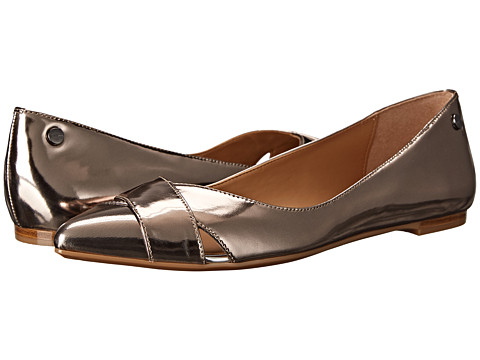 Calvin Klein - Gailia (Ematite Metallic Box) Women's Dress Flat Shoes