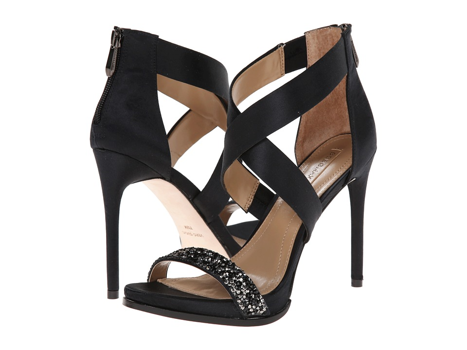 BCBGMAXAZRIA - Elyse (Black Satin/Beads) High Heels