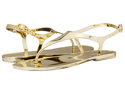 BCBGMAXAZRIA - Wish (Gold Mirror Jelly) Women's Sandals