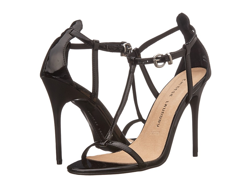 Chinese Laundry - Leo T Strap Sandal (Black Patent) High Heels