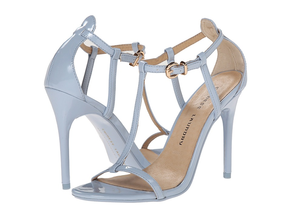 Chinese Laundry - Leo T Strap Sandal (Cashmere Blue Patent) High Heels