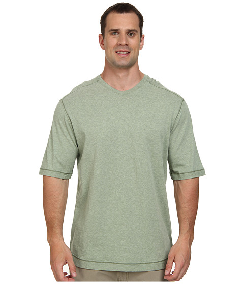 Tommy Bahama Big & Tall - Big Tall Cohen V-Neck T-Shirt (Palm Frond Heather) Men's Short Sleeve Pullover