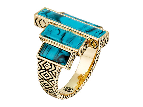 House of Harlow 1960 - The Long Rains Steps Ring (Turquoise) Ring