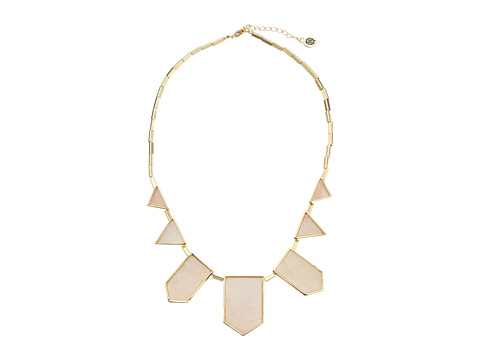 House of Harlow 1960 - Five Station Resin Necklace (Rose Quartz) Necklace