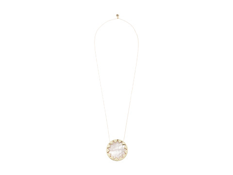House of Harlow 1960 - Large Sunburst Necklace (Rose Quartz) Necklace