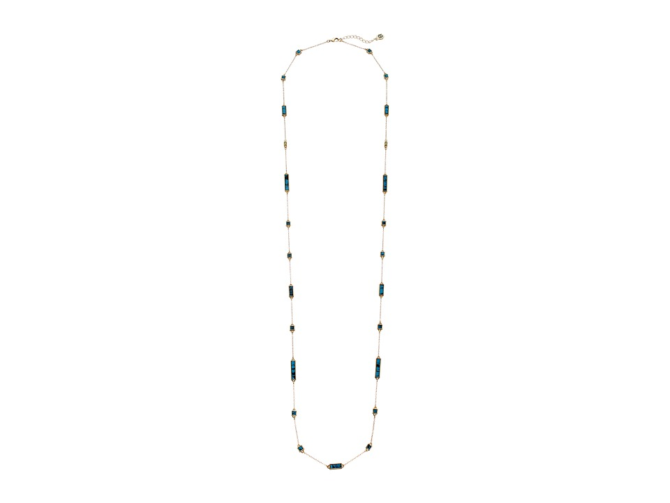 House of Harlow 1960 - The Long Rains Station Wrap Necklace (Turquoise) Necklace