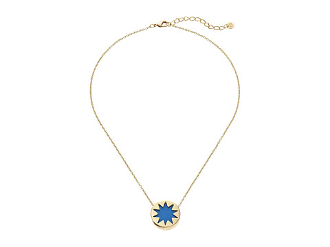House of Harlow 1960 - Mini Sunburst Necklace (Blue Resin) Necklace