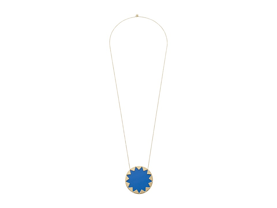 House of Harlow 1960 - Large Sunburst Necklace (Blue Resin) Necklace
