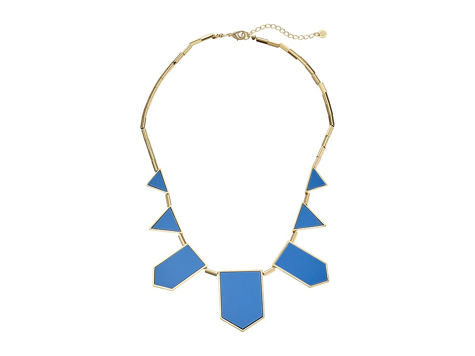 House of Harlow 1960 - Five Station Resin Necklace (Blue Resin) Necklace