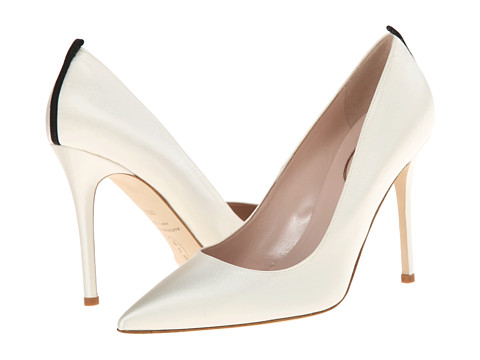 SJP by Sarah Jessica Parker - Fawn 100mm (Ivory Satin) Women's Shoes