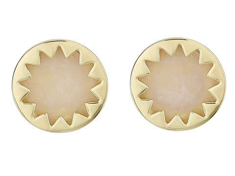 House of Harlow 1960 - Mini Sunburst Button Earrings (Rose Quartz) Earring