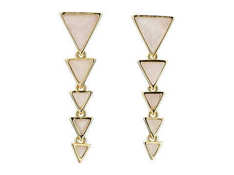 House of Harlow 1960 - Meteora Drop Earrings (Rose Quartz) Earring