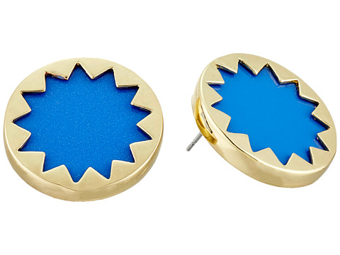 House of Harlow 1960 - Mini Button Earrings (Blue Resin) Earring