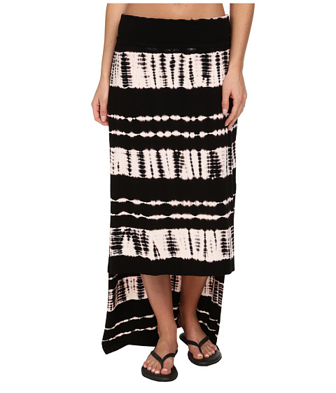 Pink Lotus - Mesmerize Hi-Lo Side Slit Maxi (Black) Women's Skirt