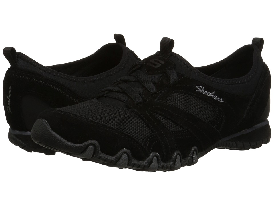 SKECHERS - Relaxed Fit - Bikers - Winner (Black) Women's Lace up casual Shoes