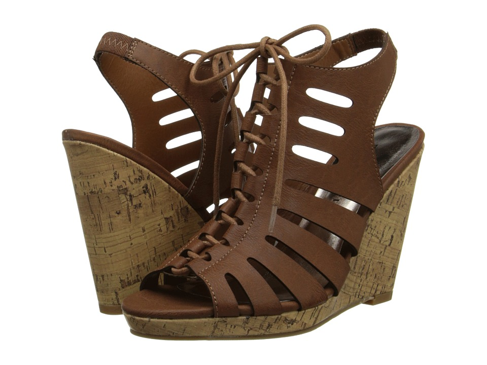 Madden Girl - Margooo (Cognac Paris) Women's Wedge Shoes