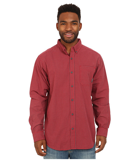Columbia - Rapid Rivers Long Sleeve Shirt (Rocket Mini Check) Men's Long Sleeve Button Up