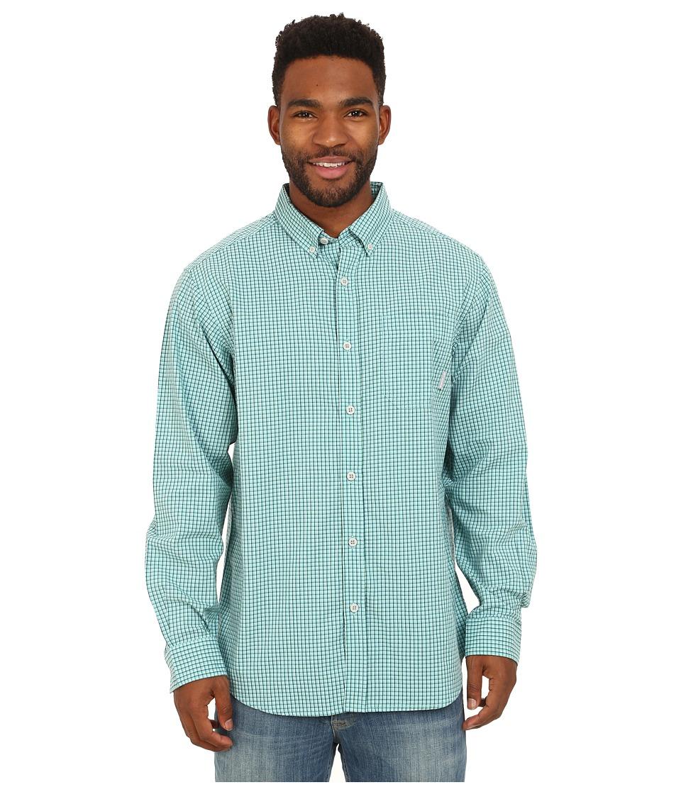 Columbia - Rapid Rivers Long Sleeve Shirt (Aqua Mini Check) Men