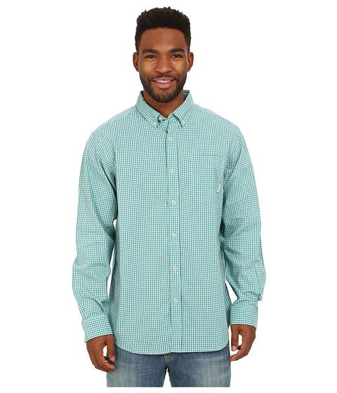 Columbia - Rapid Rivers Long Sleeve Shirt (Aqua Mini Check) Men's Long Sleeve Button Up