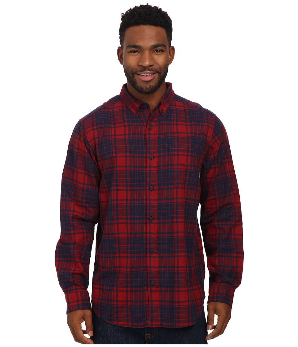 Columbia - Rapid Rivers Long Sleeve Shirt (Red Element Plaid) Men