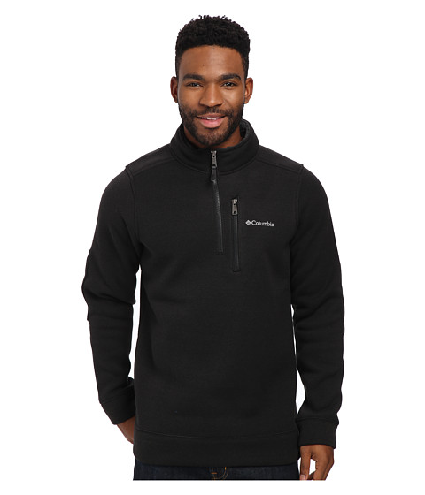 Columbia - Terpin Point II Half Zip (Black) Men's Long Sleeve Pullover