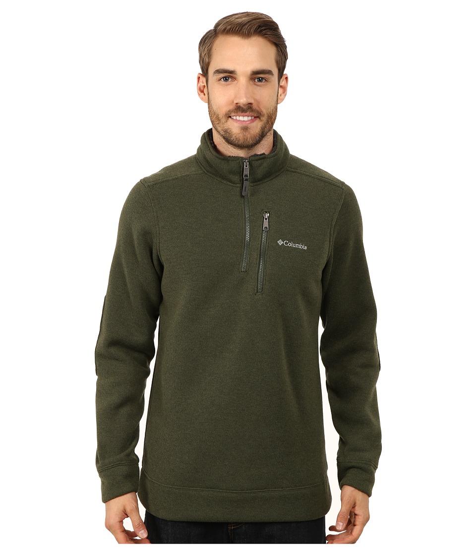 Columbia - Terpin Pointtm II Half Zip (Surplus Green) Men's Long Sleeve Pullover