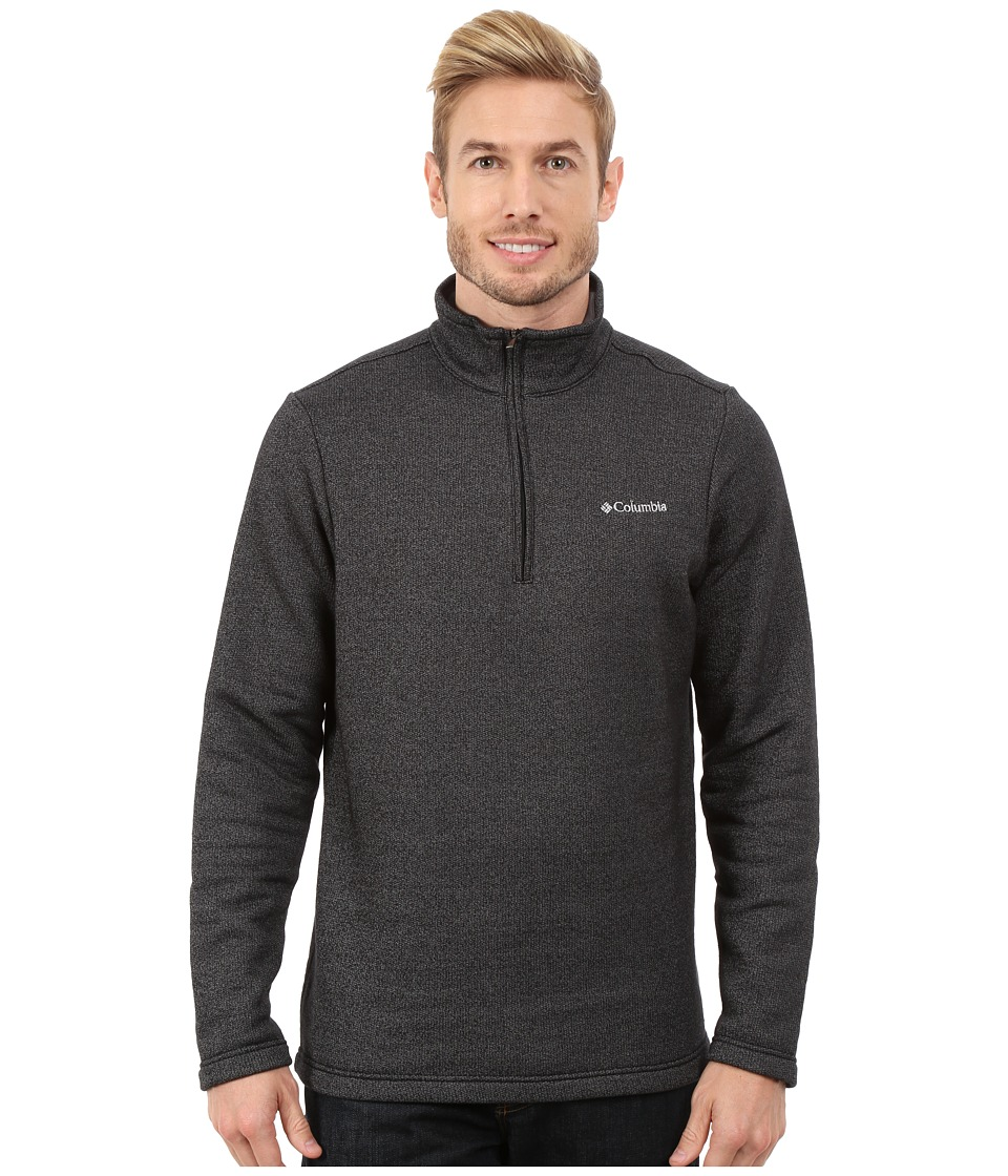 Columbia - Great Hart Mountain III Half Zip (Black Heather) Men's Long Sleeve Pullover