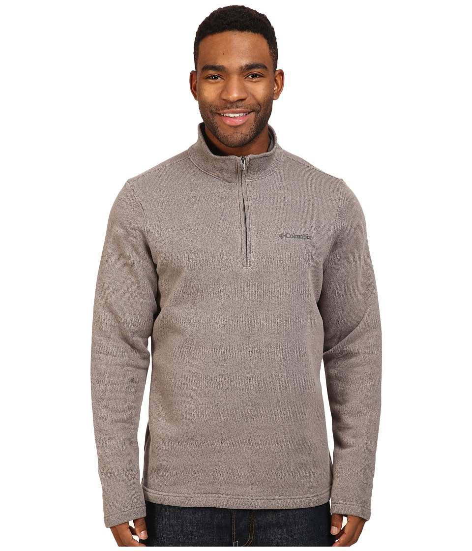 Columbia - Great Hart Mountain III Half Zip (Boulder Heather) Men's Long Sleeve Pullover