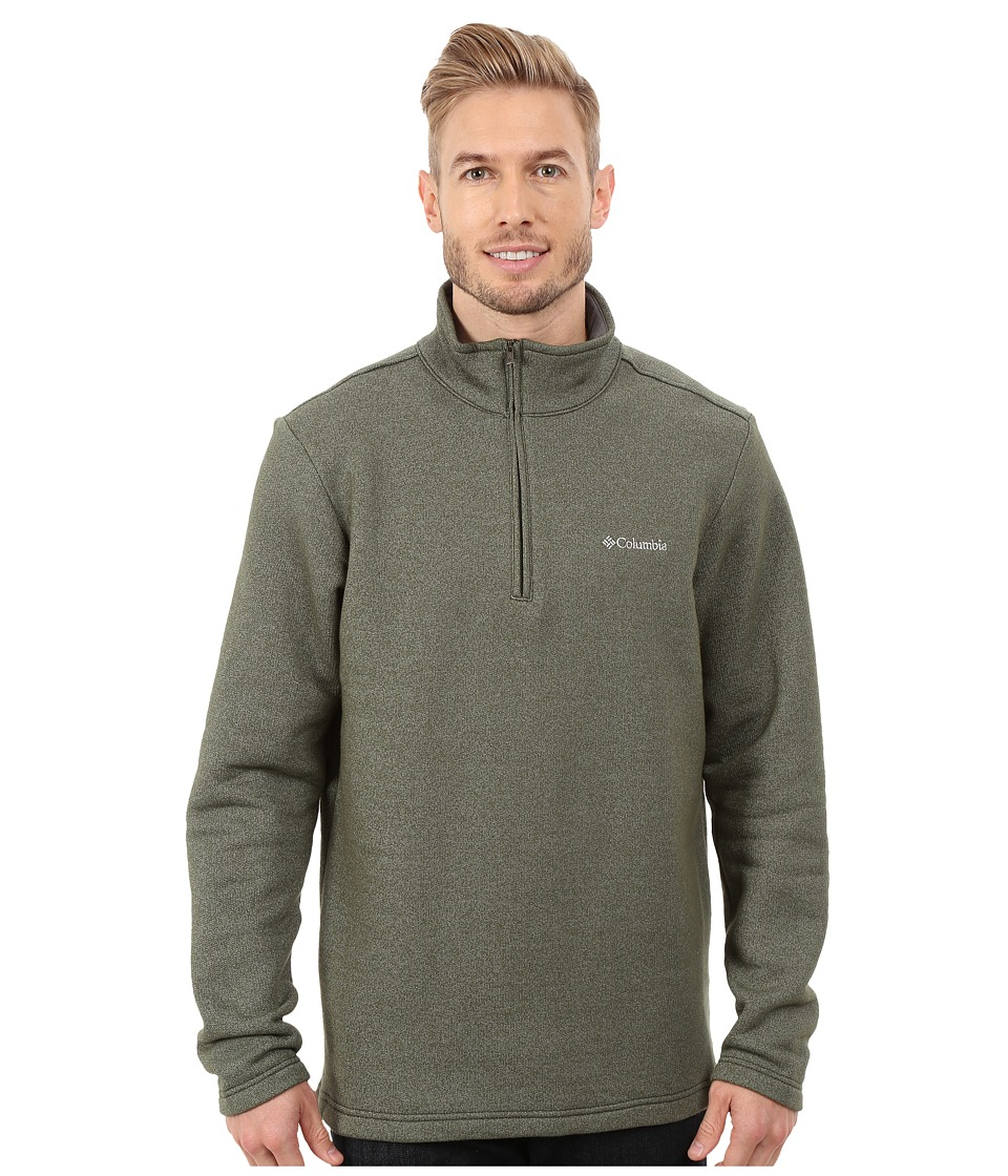 Columbia - Great Hart Mountain III Half Zip (Surplus Green) Men's Long Sleeve Pullover