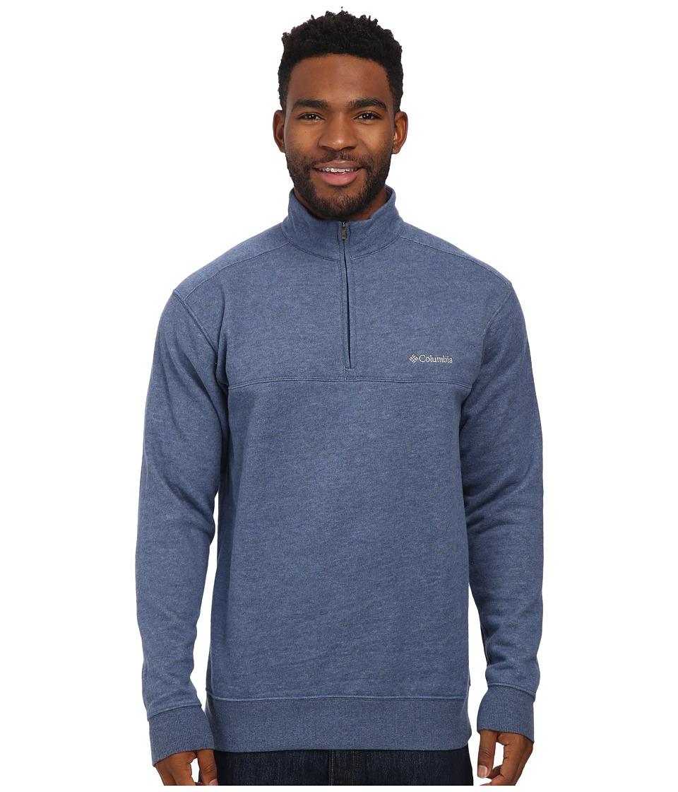 Columbia - Hart Mountain II Half Zip (Carbon Heather) Men's Long Sleeve Pullover