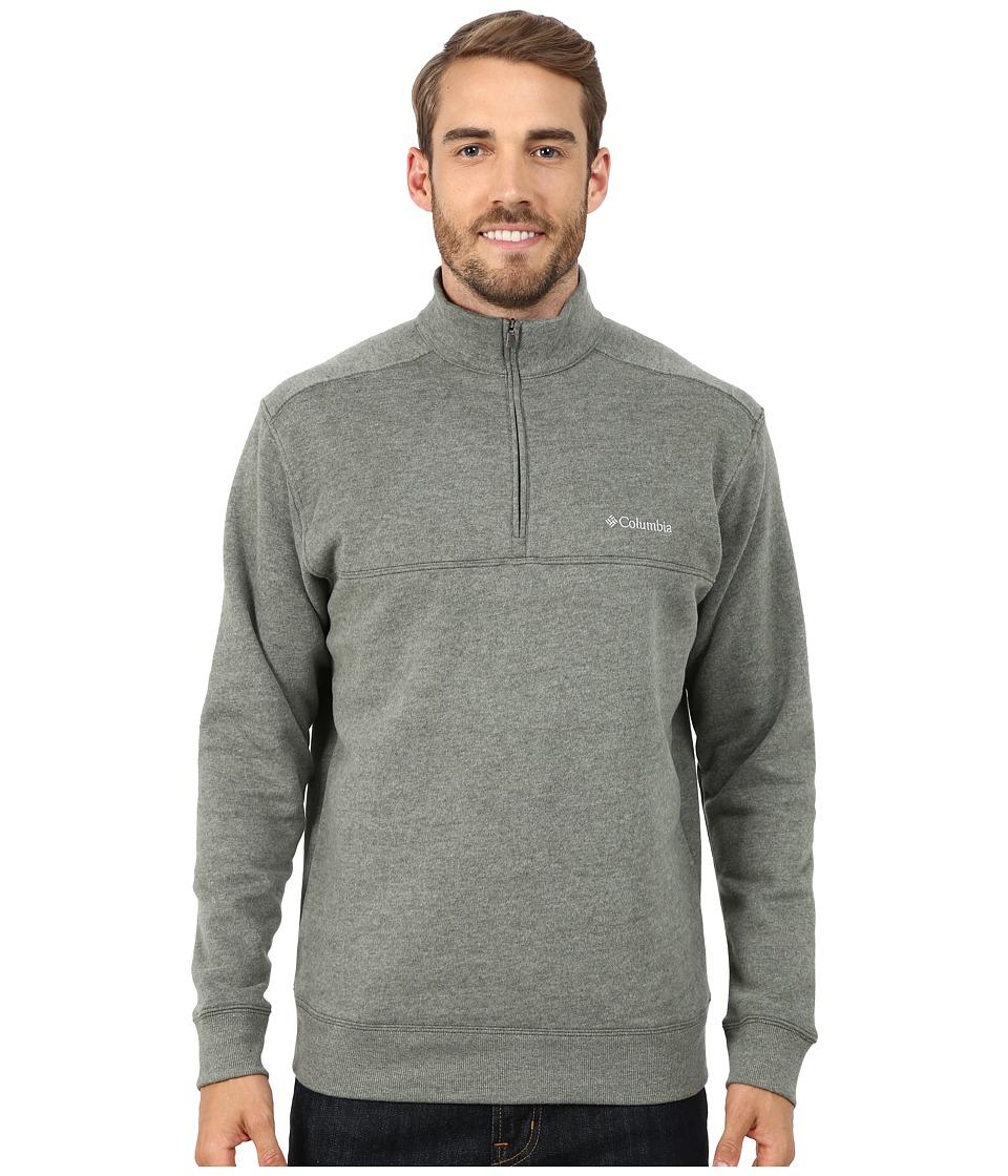 Columbia - Hart Mountain II Half Zip (Surplus Green Heather) Men's Long Sleeve Pullover