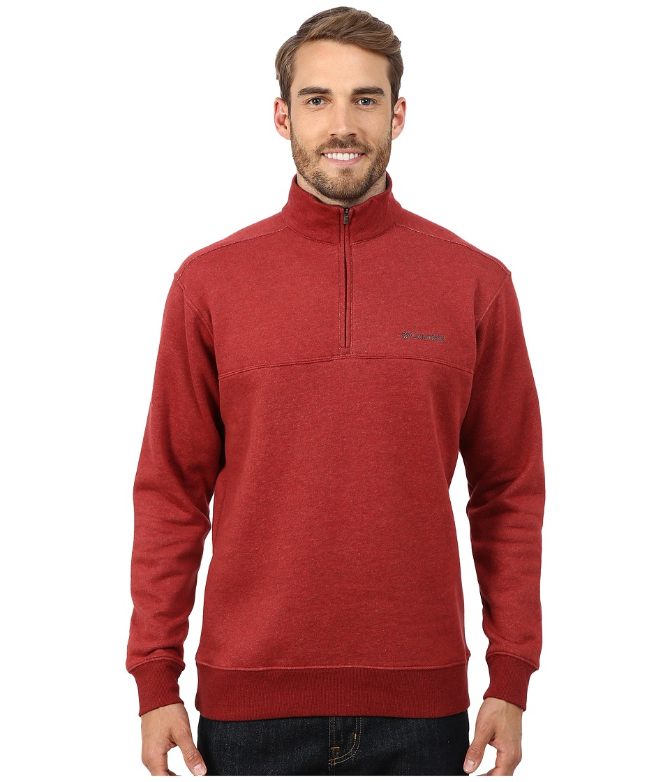 Columbia - Hart Mountain II Half Zip (Red Element Heather) Men's Long Sleeve Pullover
