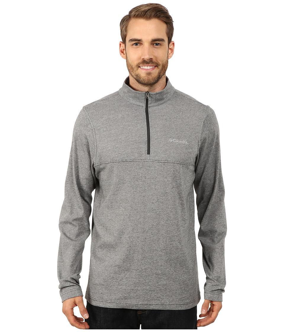 Columbia - Alpine Thistle Half Zip (Dark Moss) Men's Clothing