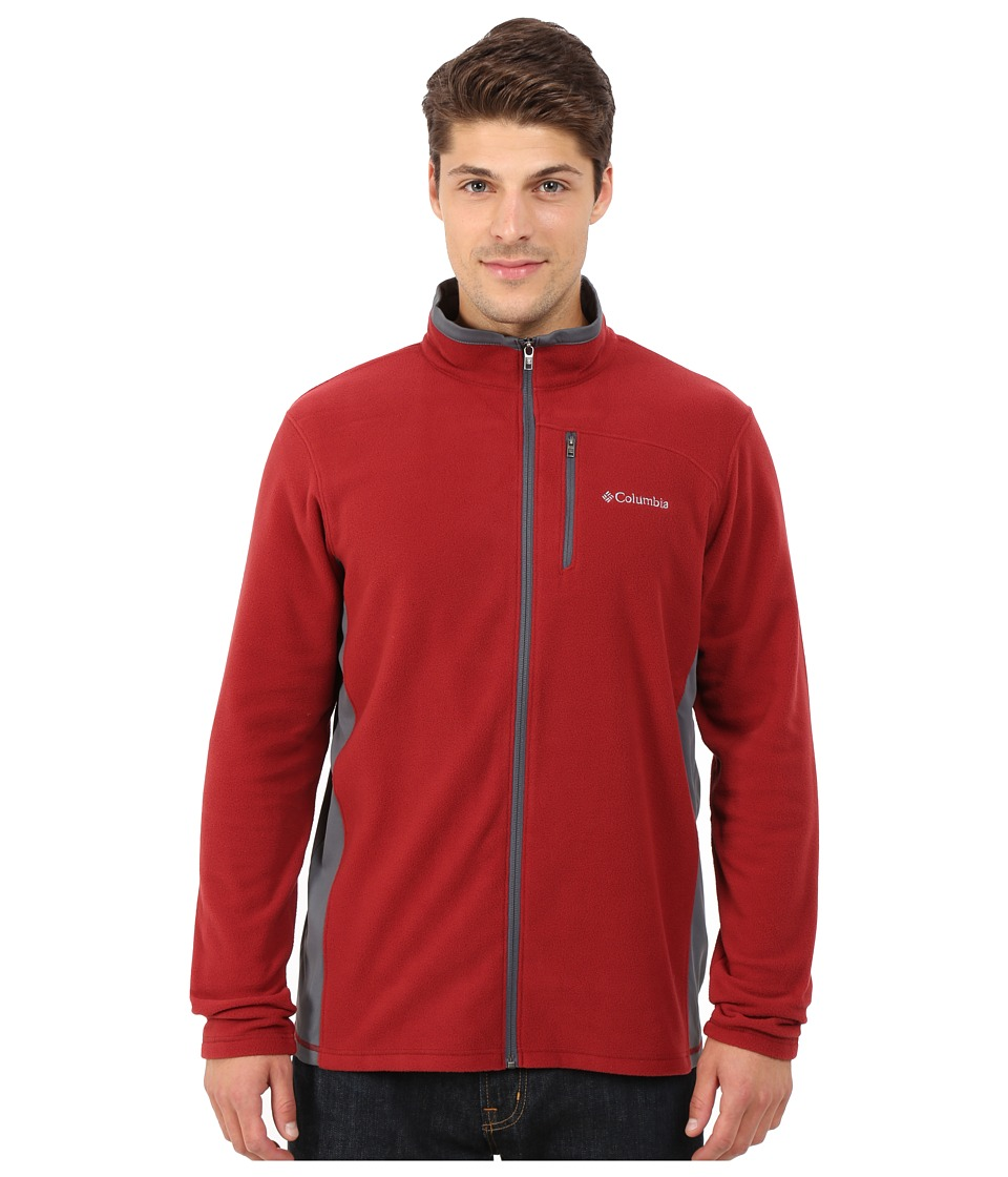 Columbia - Lost Peak Full Zip Fleece (Red Element/Graphite) Men's Fleece