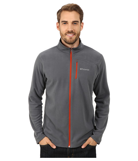 Columbia - Lost Peak Full Zip Fleece (Graphite/Flame) Men's Fleece