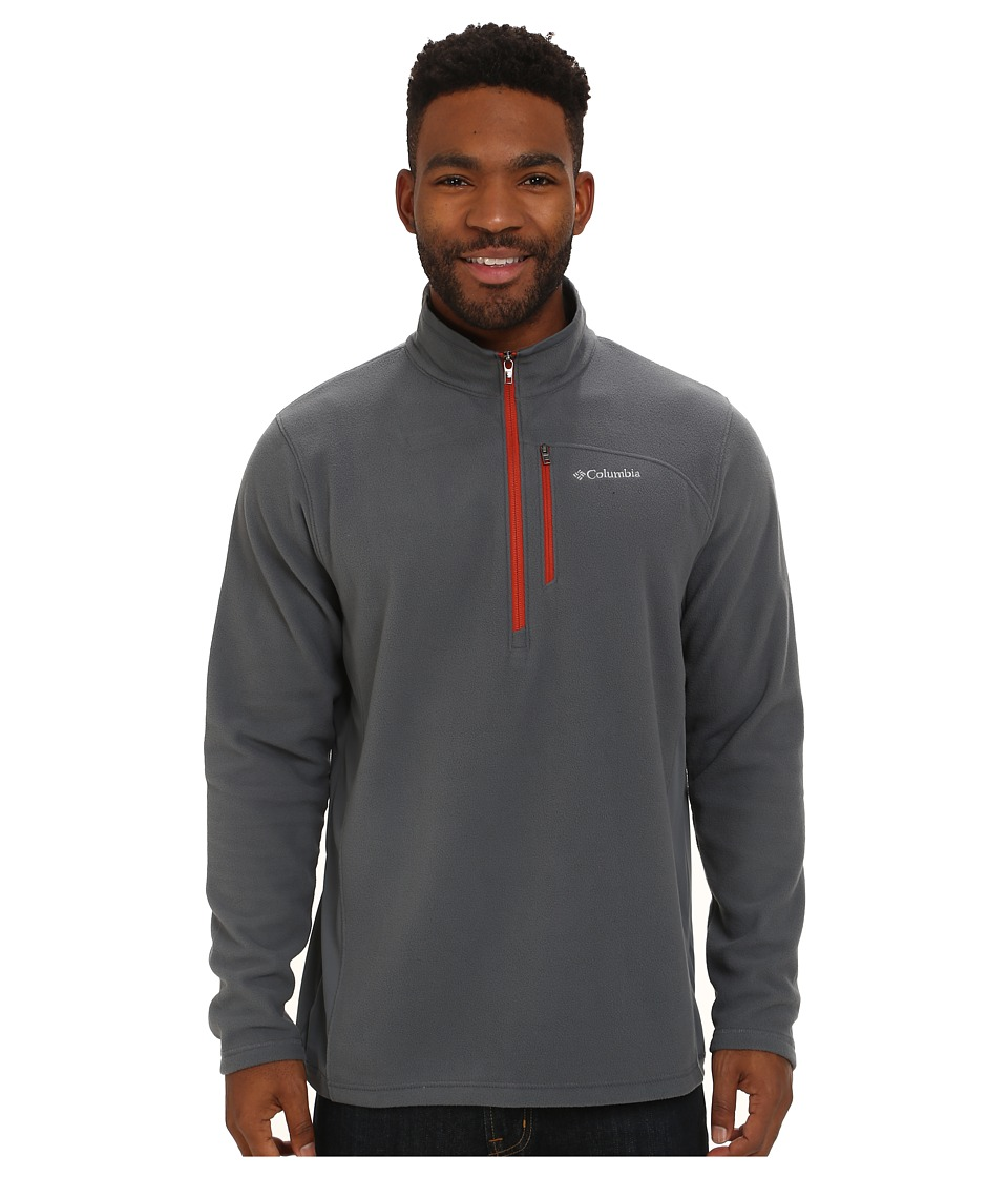 Columbia - Lost Peak Half Zip Fleece (Graphite/Flame) Men's Fleece