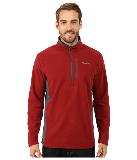 Columbia - Lost Peak Half Zip Fleece (Red Element/Graphite) Men's Fleece
