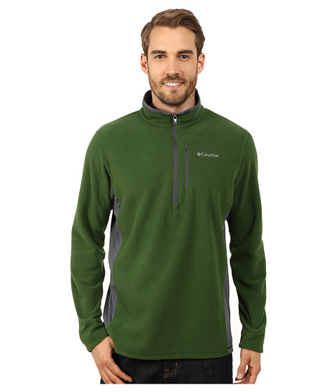 Columbia - Lost Peak Half Zip Fleece (Woodland/Graphite) Men's Fleece
