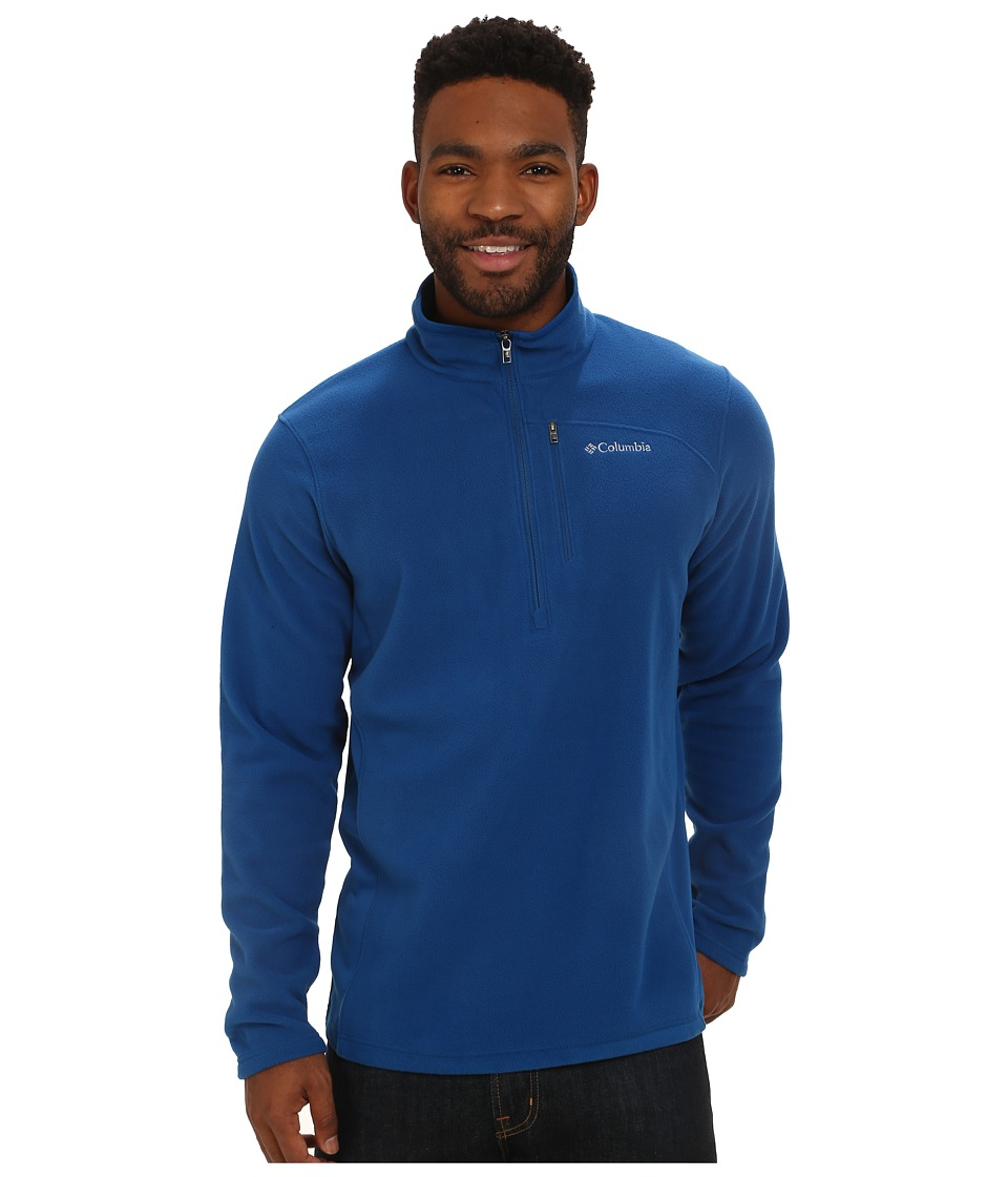 Columbia - Lost Peak Half Zip Fleece (Marine Blue) Men's Fleece