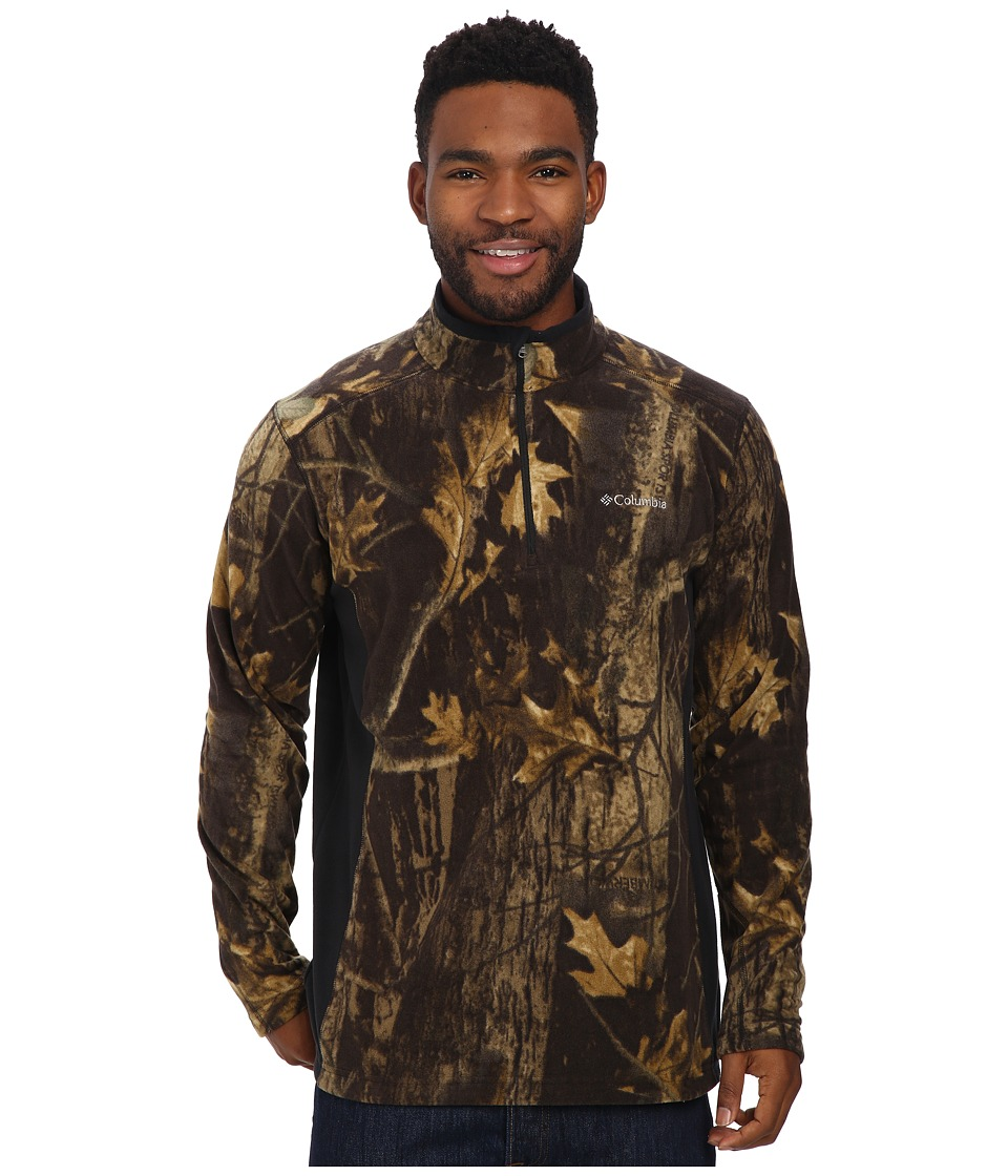 Columbia - Klamath Range Printed Half Zip (Timberwolf) Men's Coat