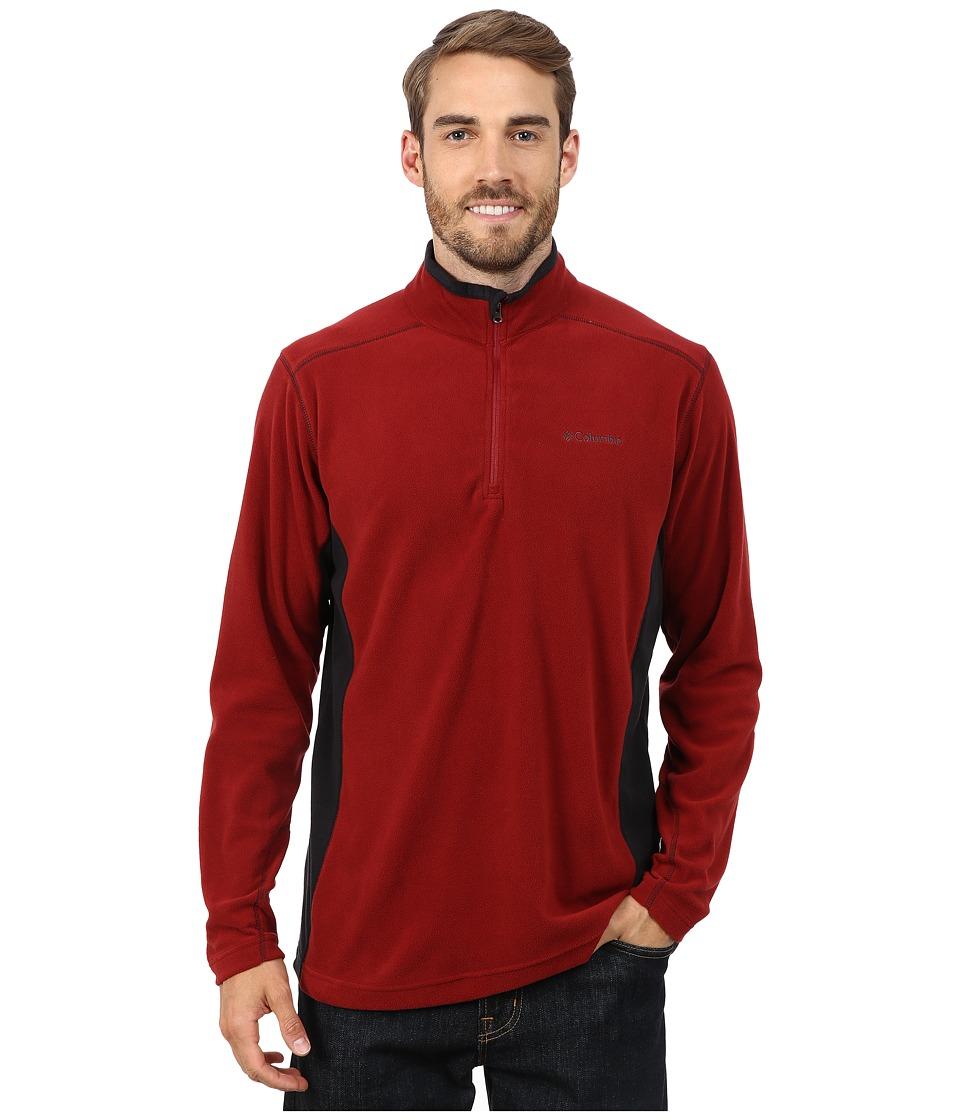 Columbia - Klamath Range II Half Zip (Red Element/Black) Men's Long Sleeve Pullover