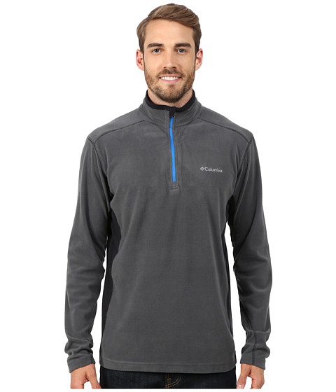Columbia - Klamath Range II Half Zip (Grill/Black) Men