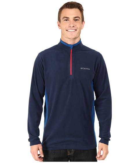 Columbia - Klamath Range II Half Zip (Collegiate Navy/Marine Blue) Men's Long Sleeve Pullover