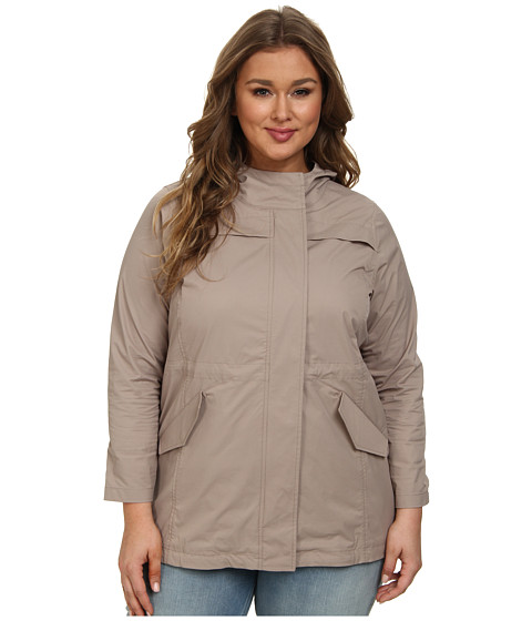 NYDJ Plus Size - Plus Size Brushed Twill Anorak (Durango) Women