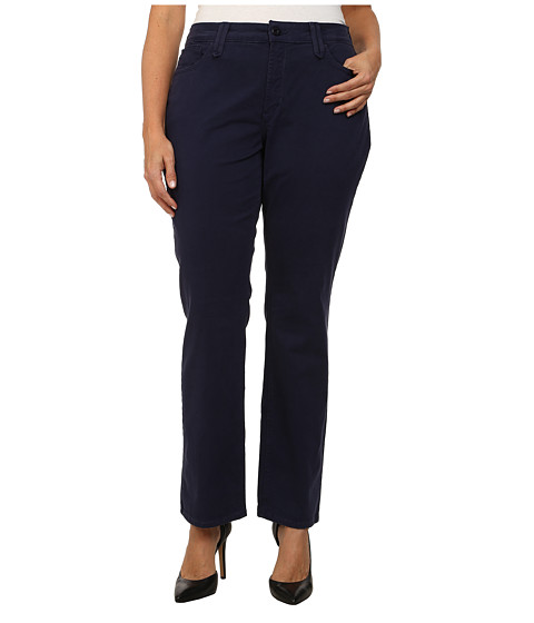NYDJ Plus Size - Plus Size Hayden Straight - Twill (Oxford Blue) Women's Clothing