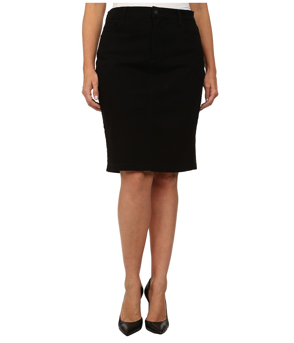 NYDJ Plus Size - Plus Size Dora Skirt (Black) Women's Skirt