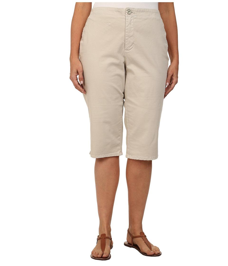 NYDJ Plus Size - Plus Size Kaelin Skimmer (Stone) Women's Casual Pants