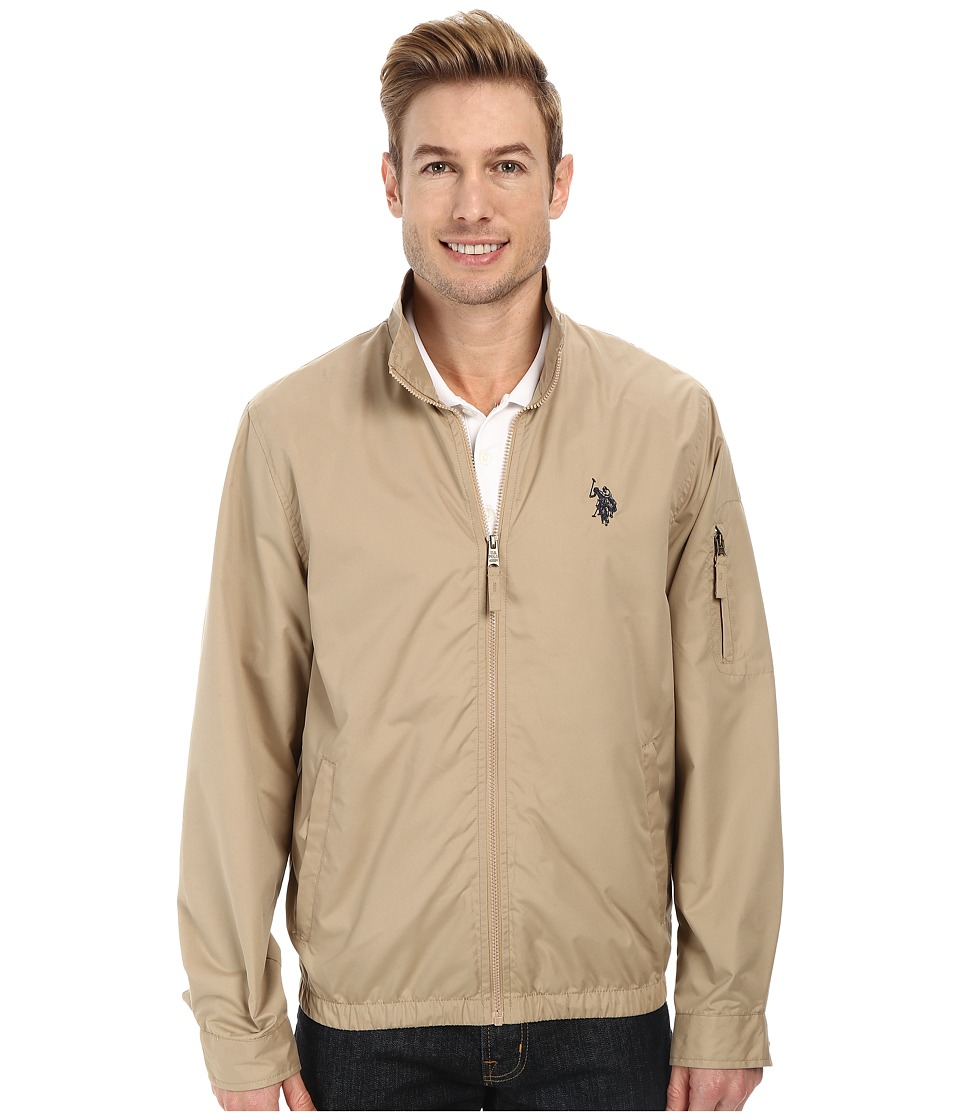 U.S. POLO ASSN. - Mock Zip Jacket (Desert Khaki) Men's Coat