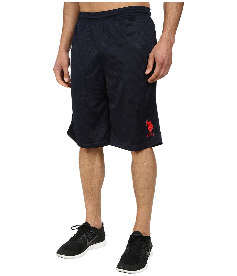 U.S. POLO ASSN. - Mesh Athletic Shorts (Classic Navy) Men's Shorts
