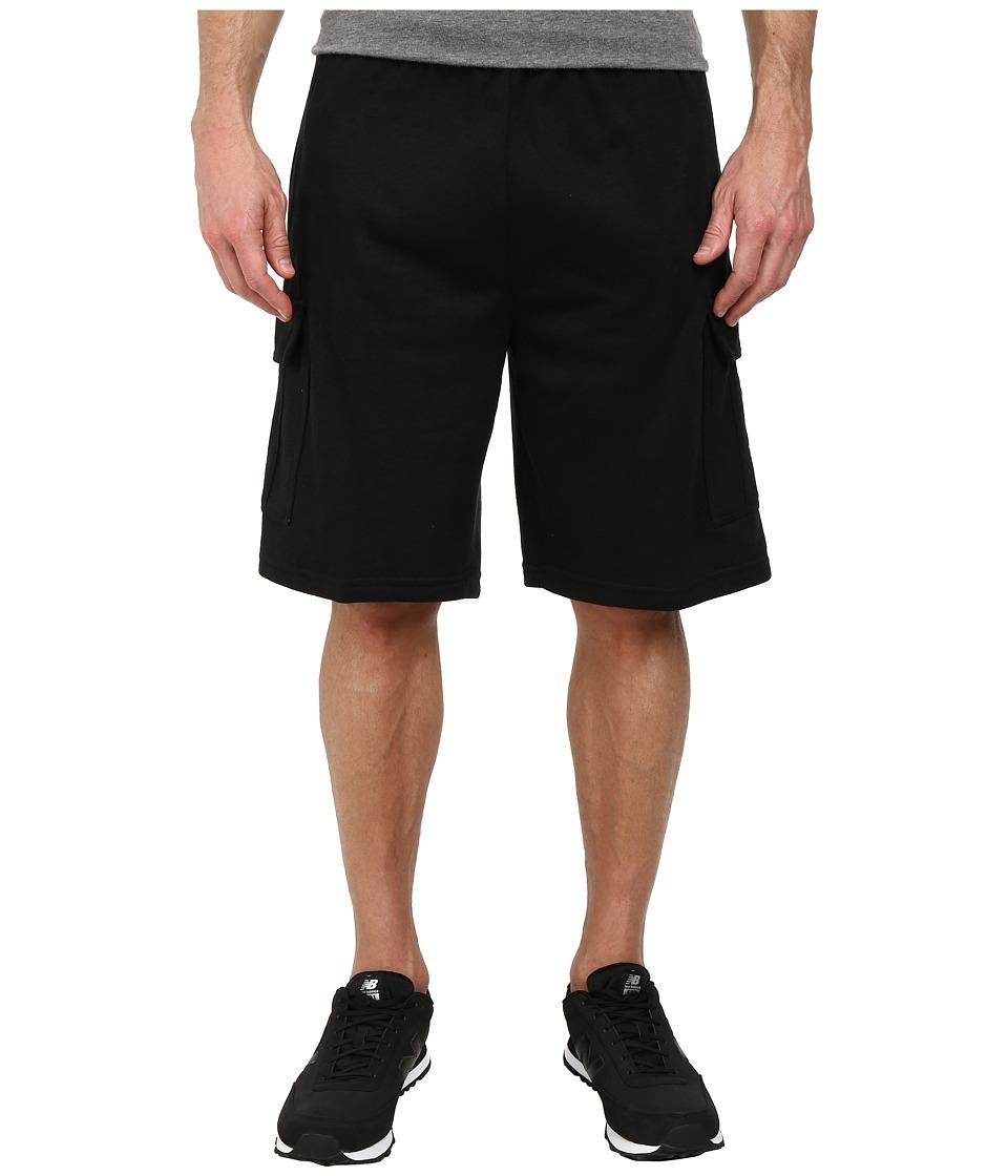 U.S. POLO ASSN. - Fleece Cargo Shorts (Black) Men's Shorts